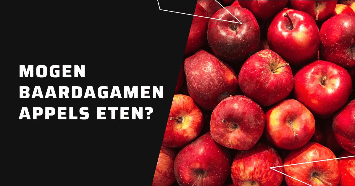 Mogen baardagamen appels eten?